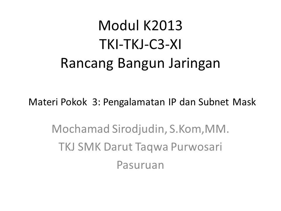 Mochamad Sirodjudin, S.Kom,MM. TKJ SMK Darut Taqwa Purwosari Pasuruan