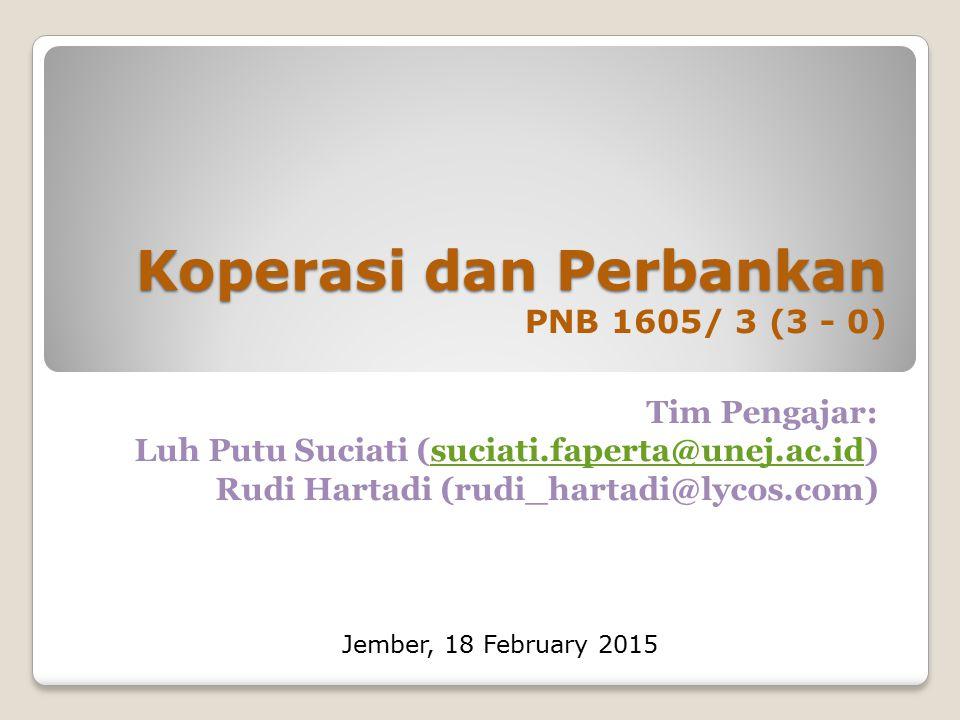 Koperasi dan Perbankan PNB 1605/ 3 (3 - 0)
