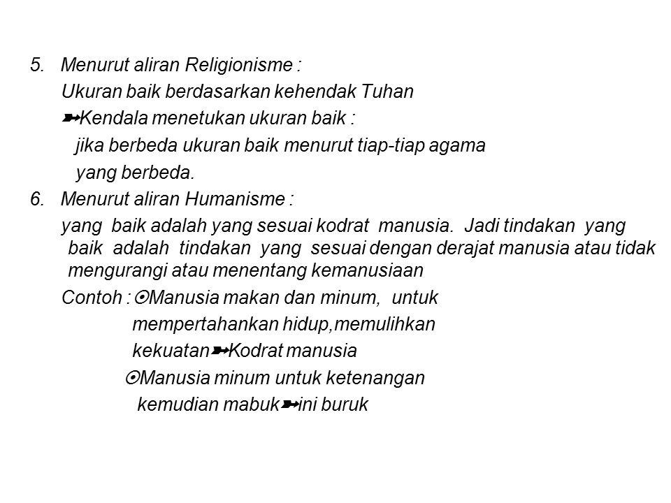 5. Menurut aliran Religionisme :