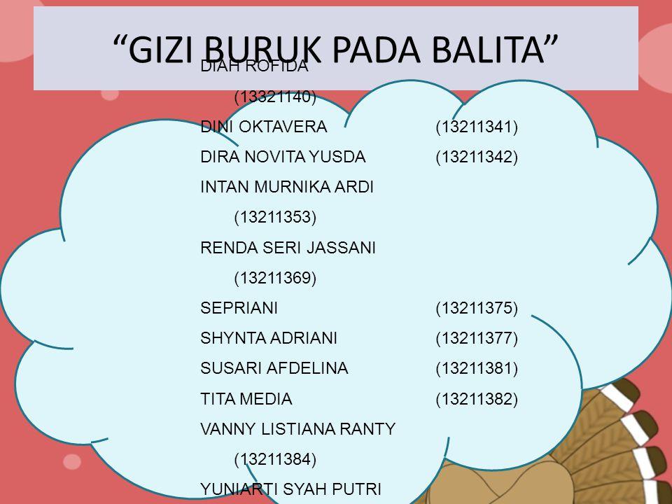 GIZI BURUK PADA BALITA