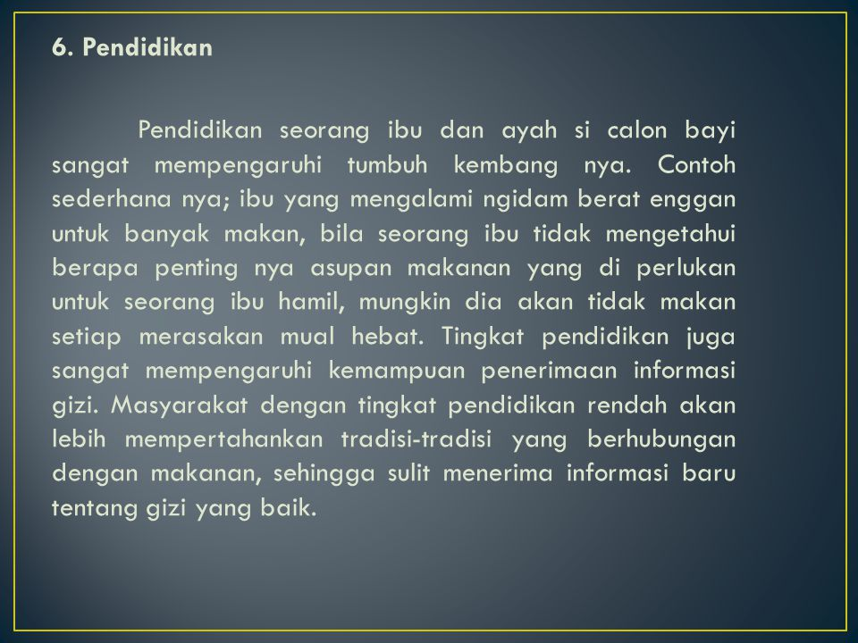 6. Pendidikan