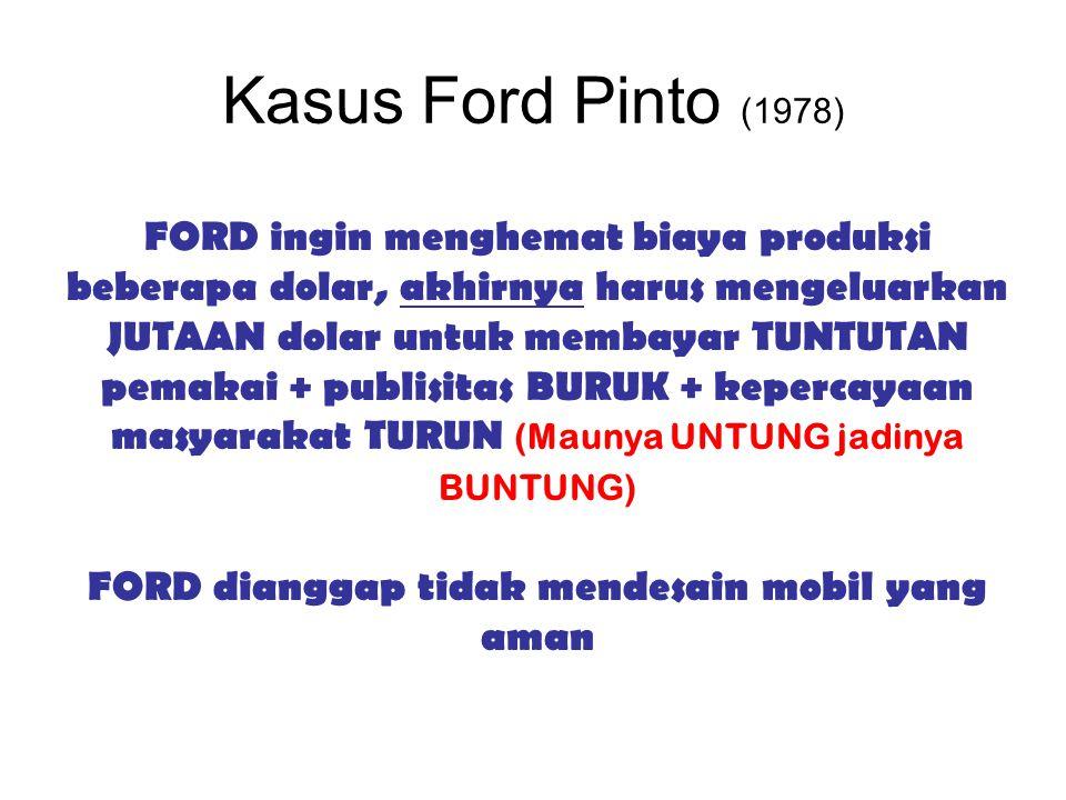FORD dianggap tidak mendesain mobil yang aman