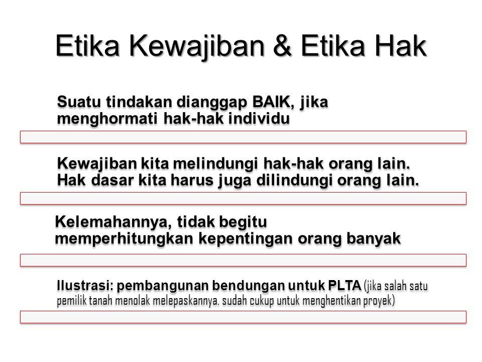 Etika Kewajiban & Etika Hak