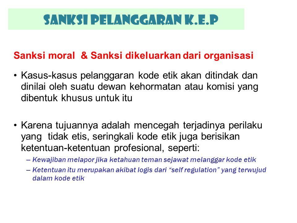 SANKSI PELANGGARAN K.E.P