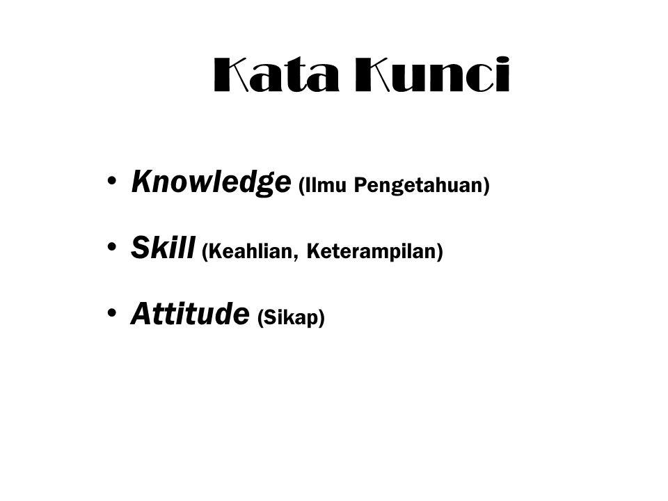 Kata Kunci Knowledge (Ilmu Pengetahuan) Skill (Keahlian, Keterampilan)