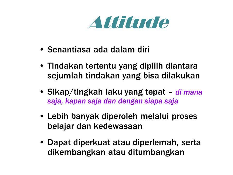 Attitude Senantiasa ada dalam diri