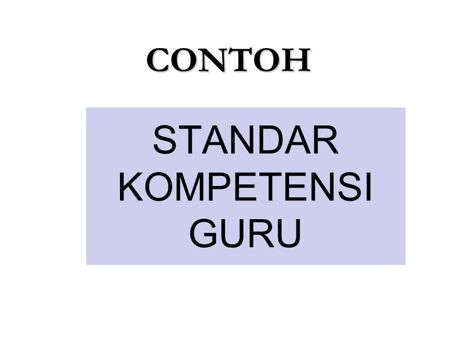 STANDAR KOMPETENSI GURU