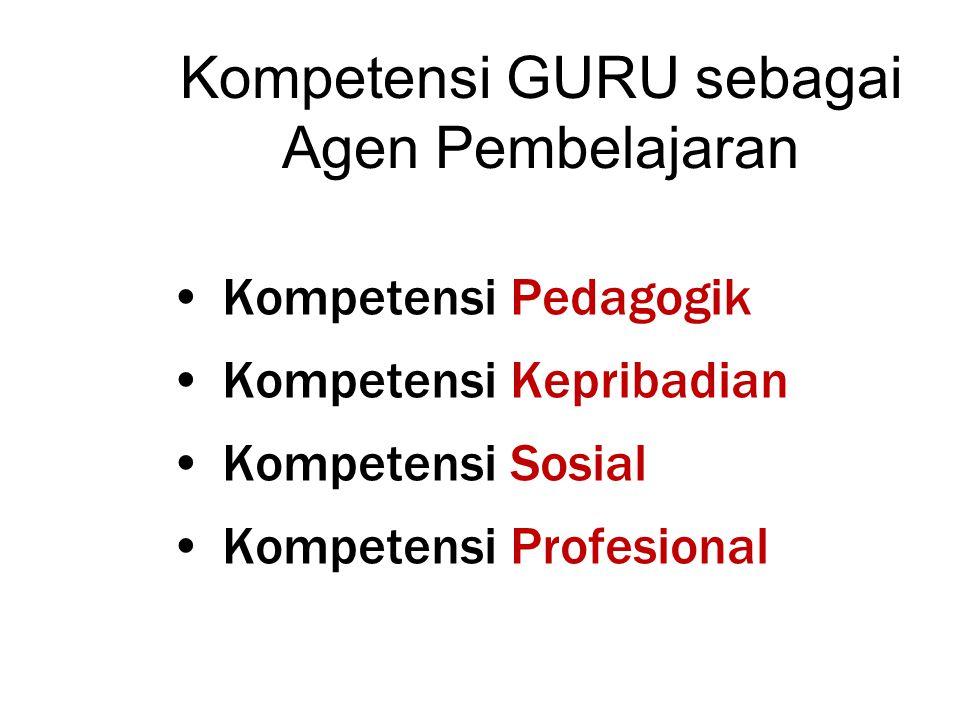 Kompetensi GURU sebagai Agen Pembelajaran