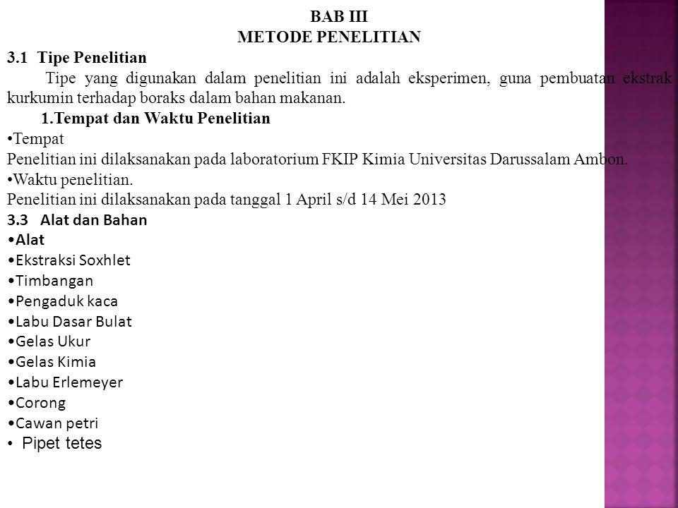 BAB III METODE PENELITIAN. 3.1 Tipe Penelitian.