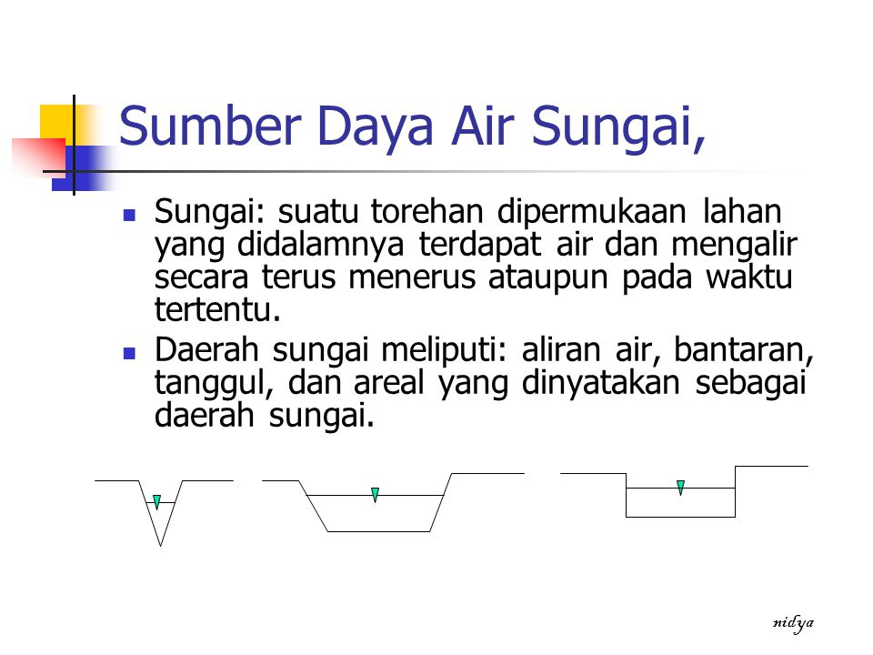 Sumber Daya Air Sungai,