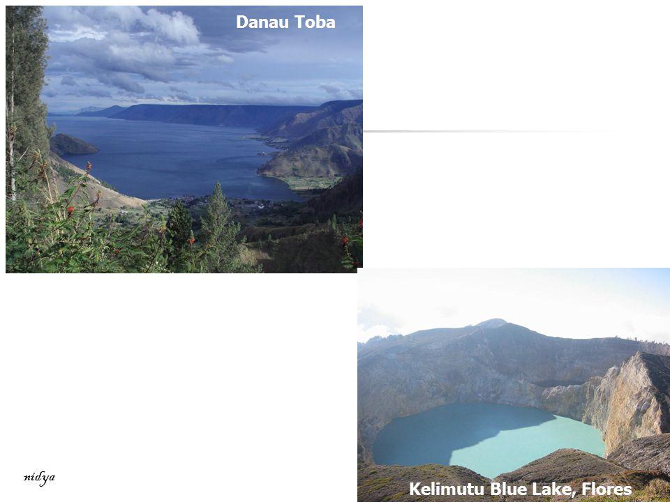 Danau Toba nidya Kelimutu Blue Lake, Flores