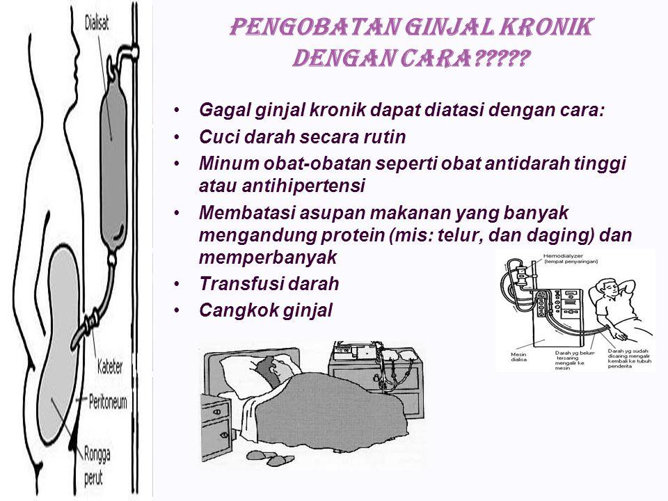 PENGOBATAN ginjal kronik dengan cara