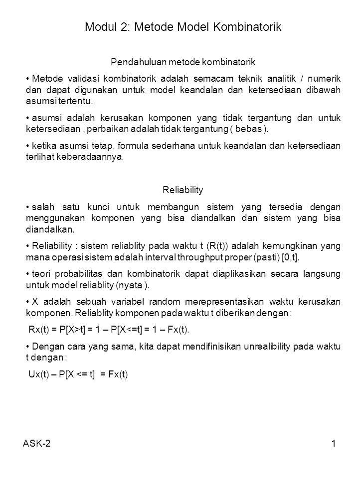 Modul 2: Metode Model Kombinatorik