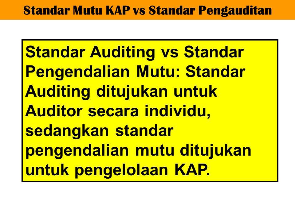 Standar Mutu KAP vs Standar Pengauditan