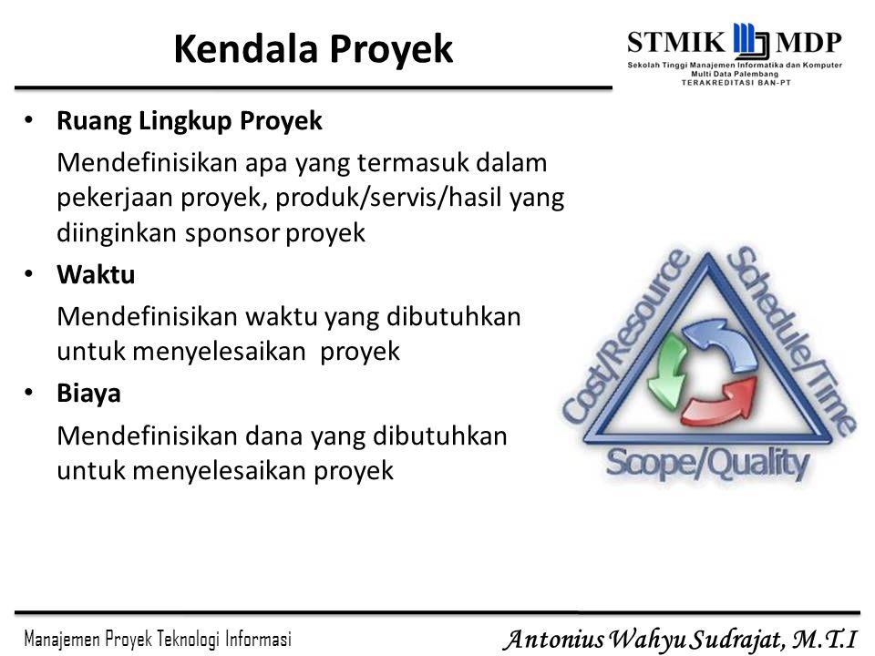 Kendala Proyek Ruang Lingkup Proyek