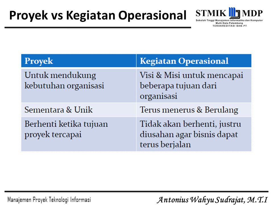 Proyek vs Kegiatan Operasional