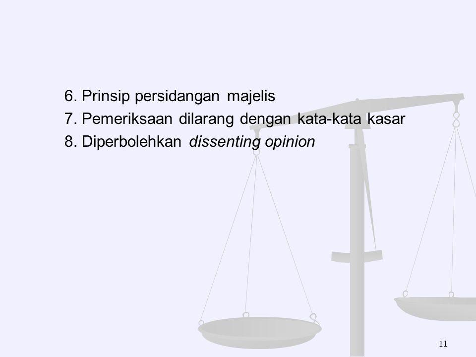6. Prinsip persidangan majelis 7