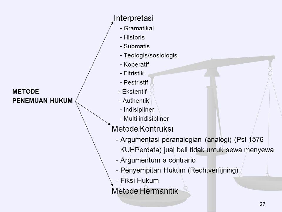 Interpretasi Metode Kontruksi Metode Hermanitik