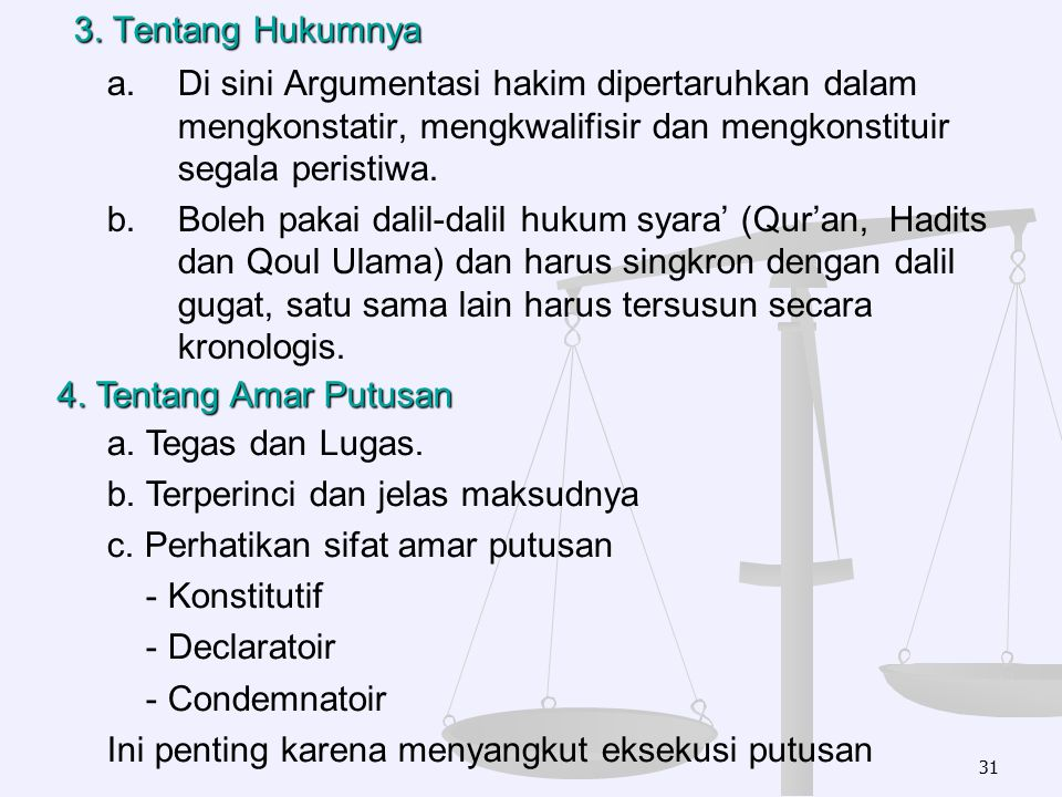 3. Tentang Hukumnya
