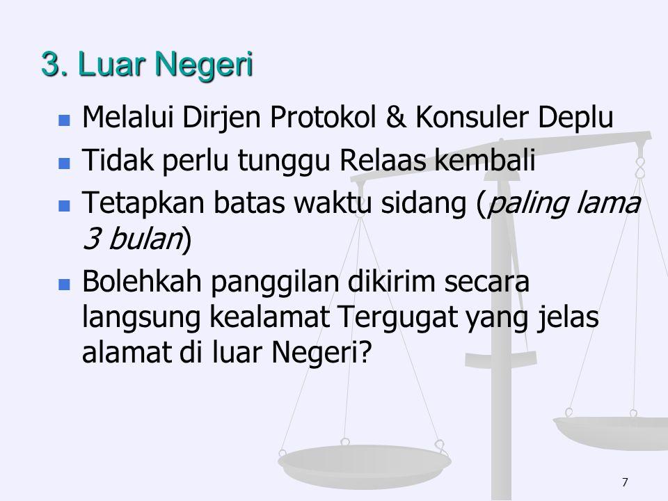3. Luar Negeri Melalui Dirjen Protokol & Konsuler Deplu