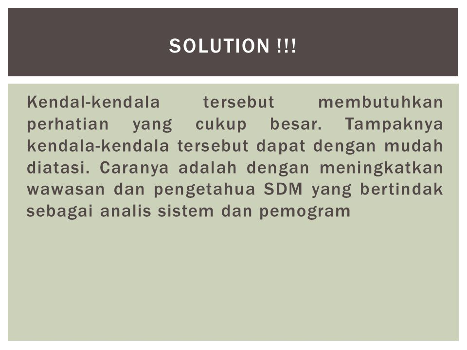 SOLUTION !!!