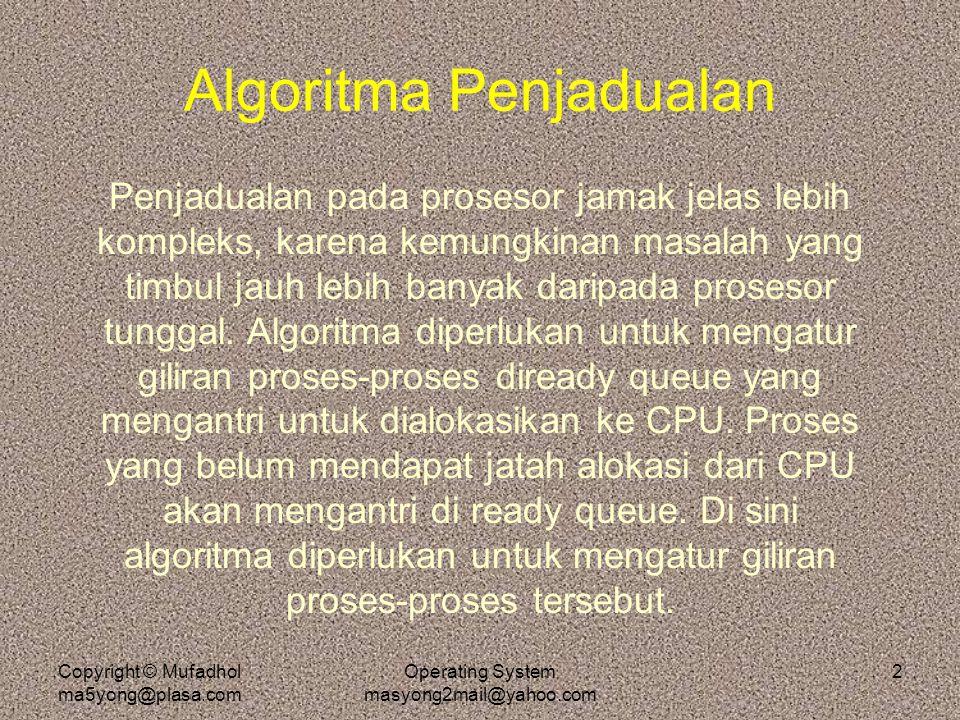 Algoritma Penjadualan