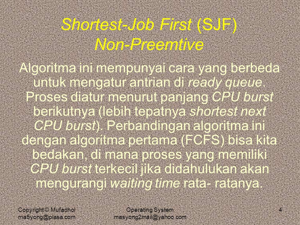 Shortest-Job First (SJF) Non-Preemtive