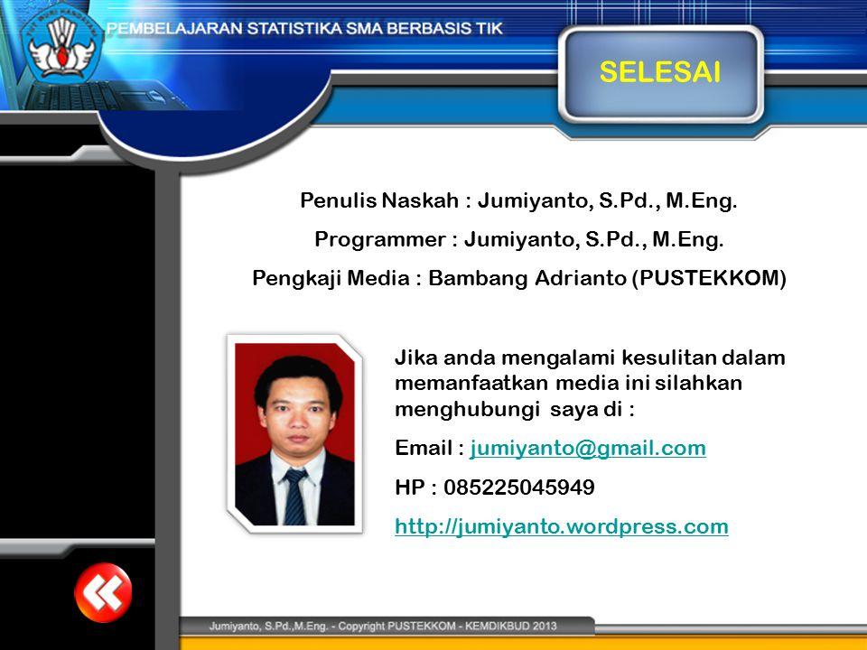 SELESAI Penulis Naskah : Jumiyanto, S.Pd., M.Eng.
