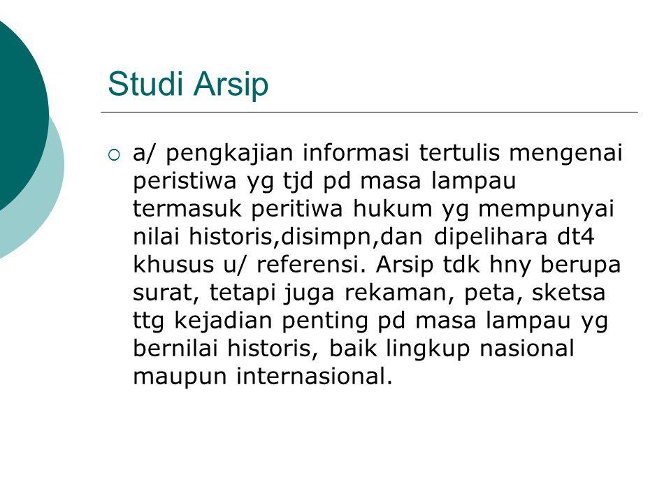 Studi Arsip