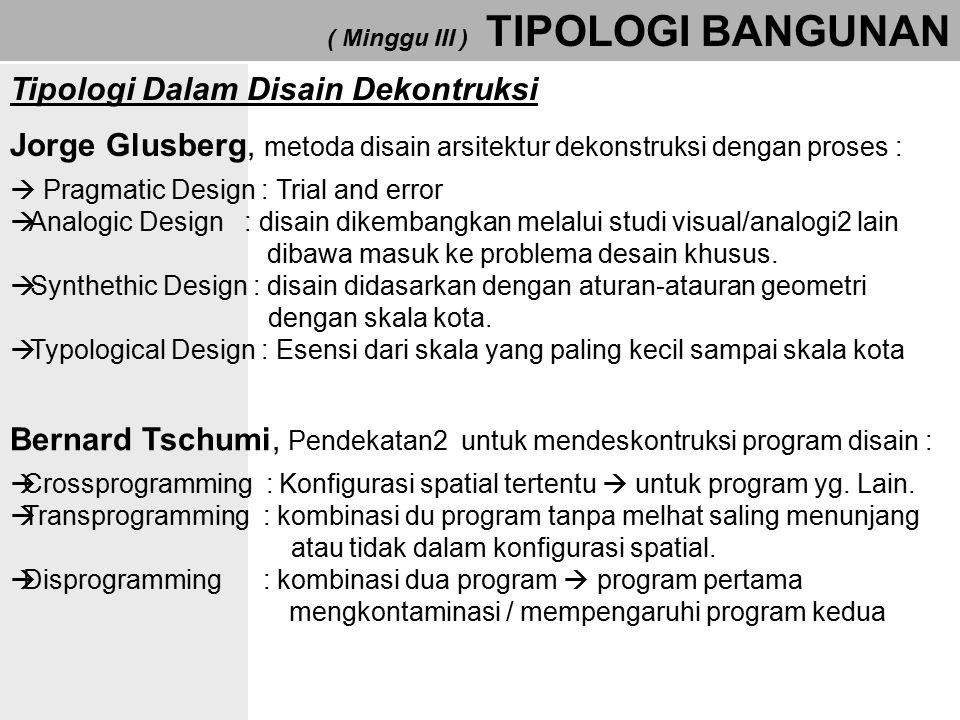 Tipologi Dalam Disain Dekontruksi