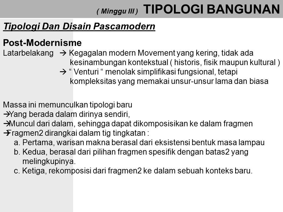 Tipologi Dan Disain Pascamodern