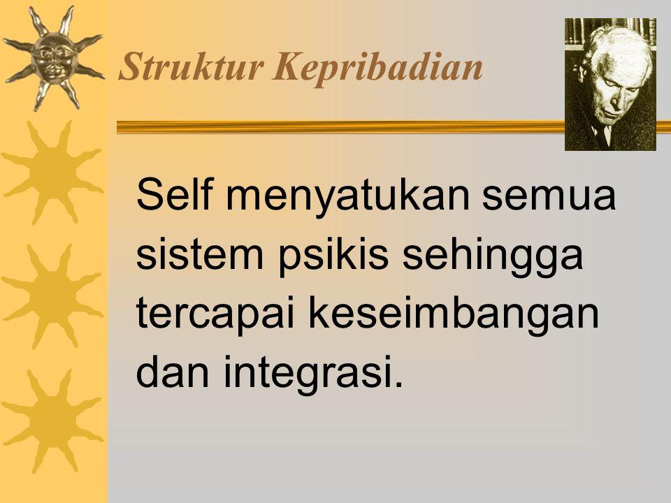 Struktur Kepribadian Self menyatukan semua sistem psikis sehingga tercapai keseimbangan dan integrasi.