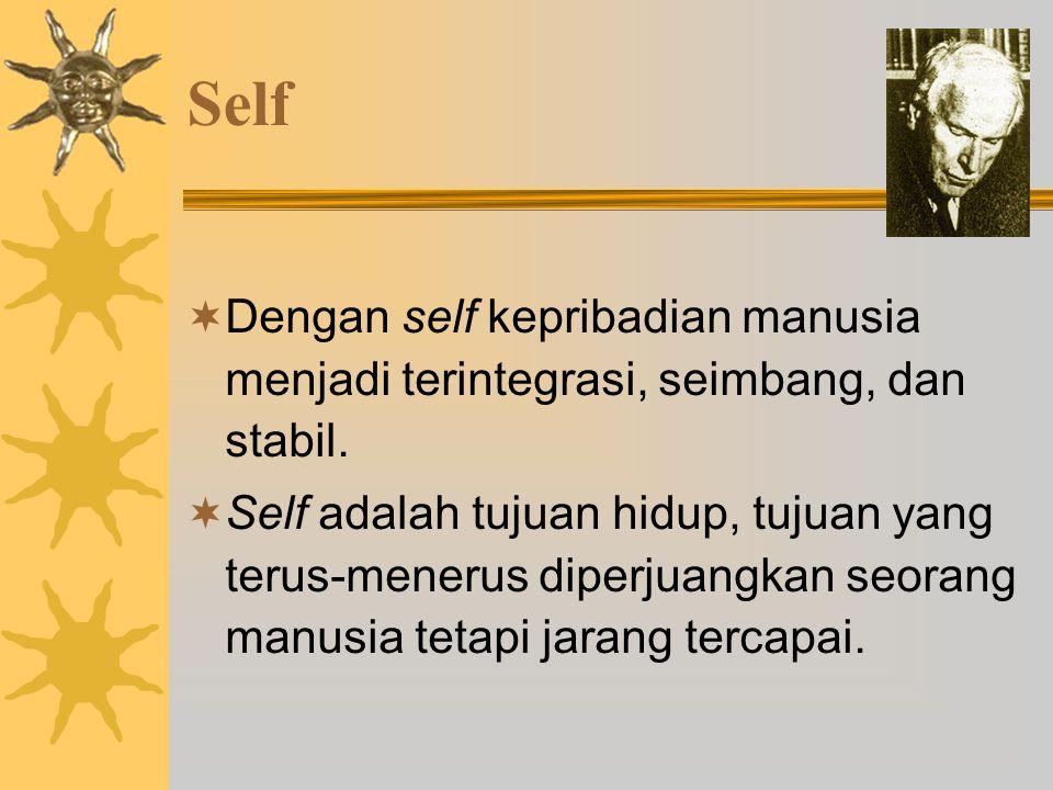 Self Dengan self kepribadian manusia menjadi terintegrasi, seimbang, dan stabil.