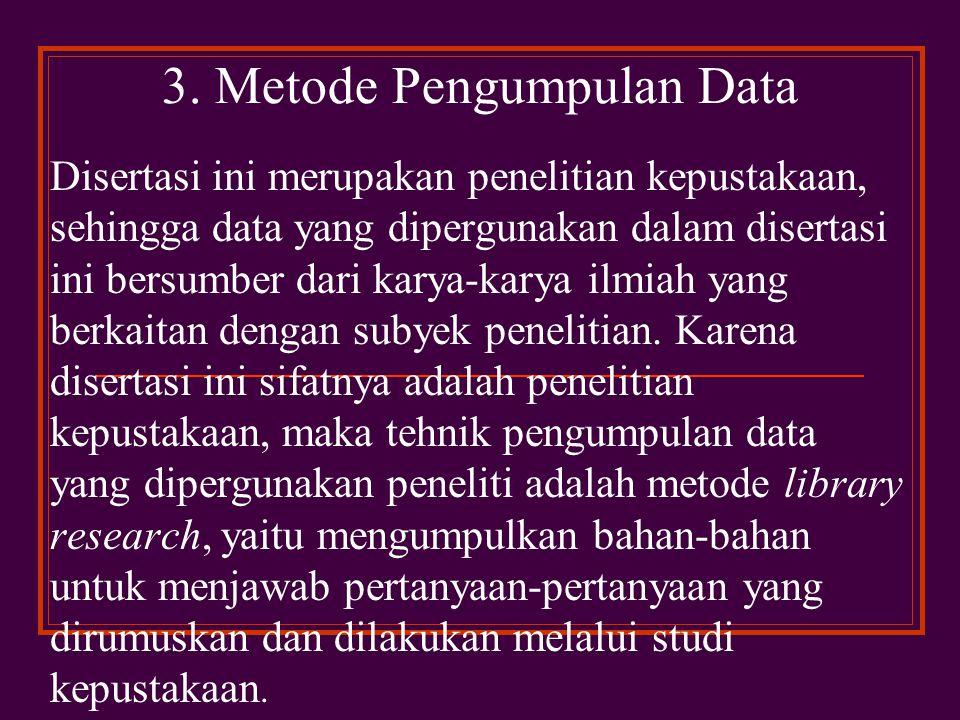 3. Metode Pengumpulan Data