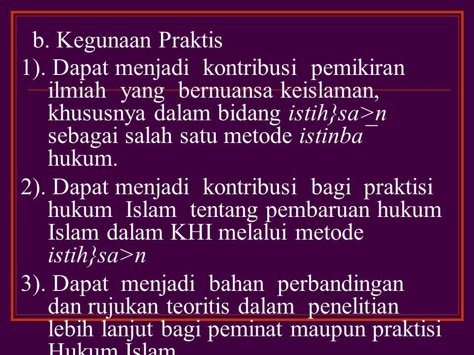 b. Kegunaan Praktis