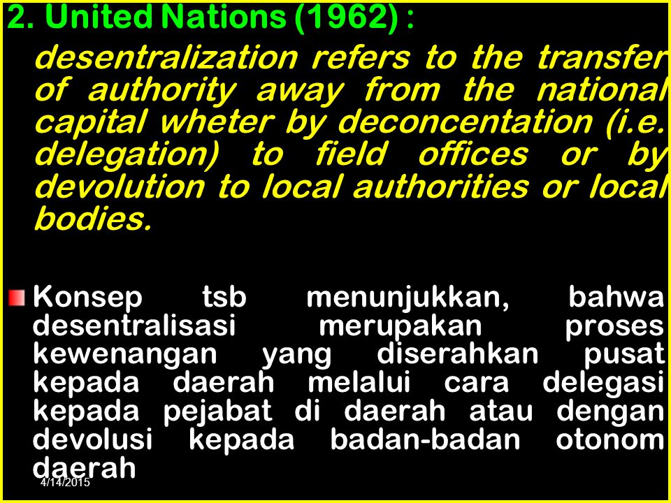 2. United Nations (1962) :