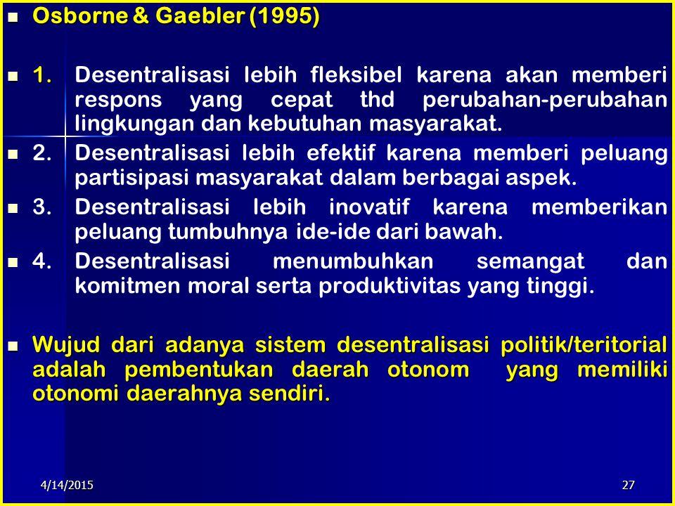 Osborne & Gaebler (1995)