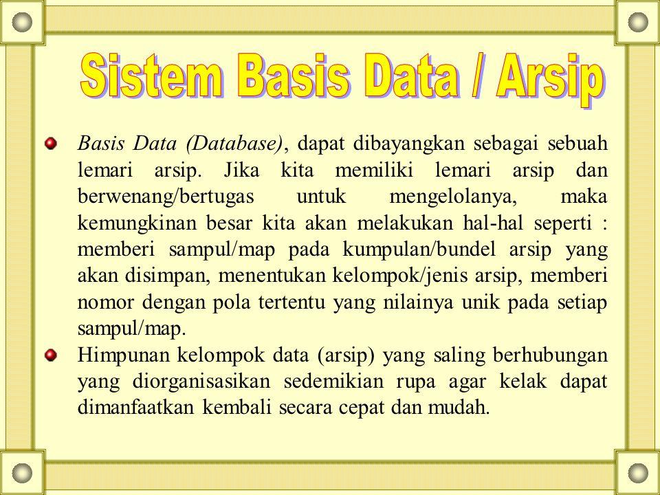 Sistem Basis Data / Arsip