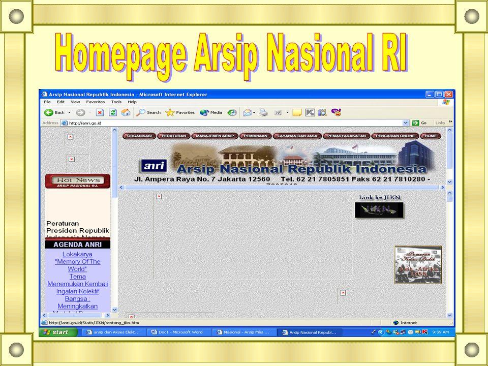 Homepage Arsip Nasional RI