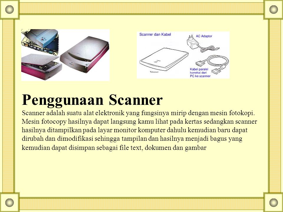 Penggunaan Scanner