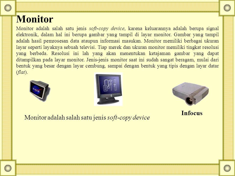 Monitor adalah salah satu jenis soft-copy device