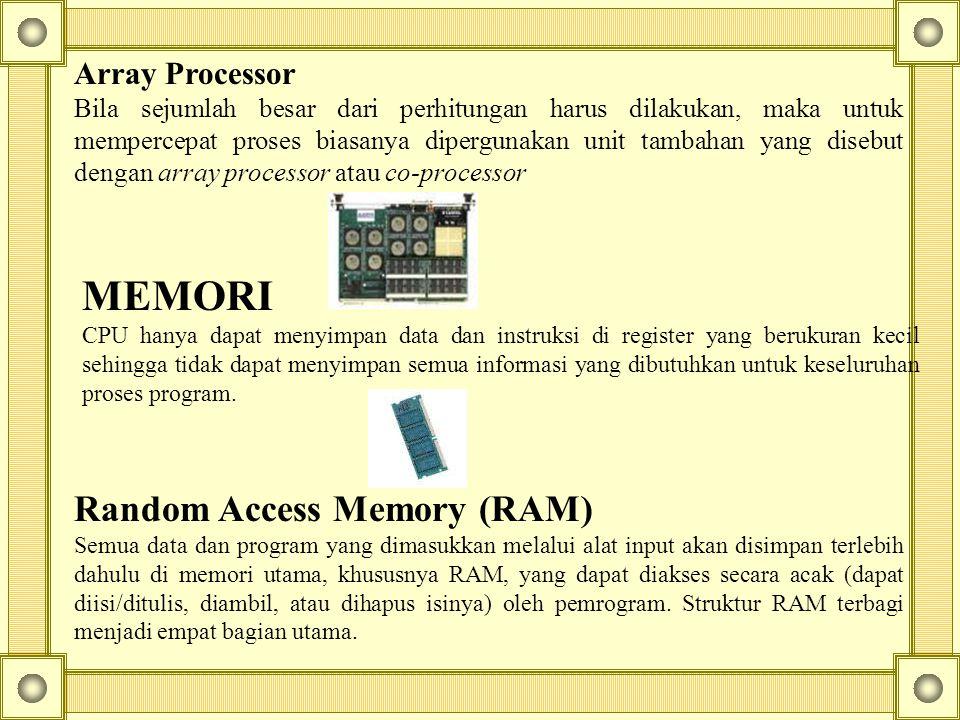 MEMORI Random Access Memory (RAM) Array Processor
