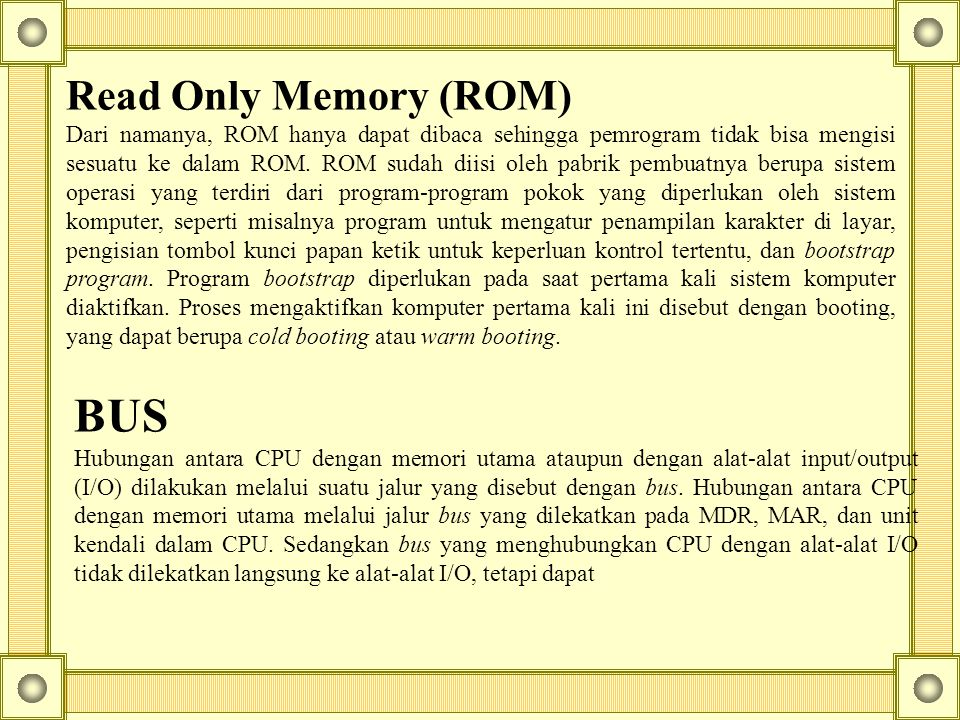 BUS Read Only Memory (ROM)