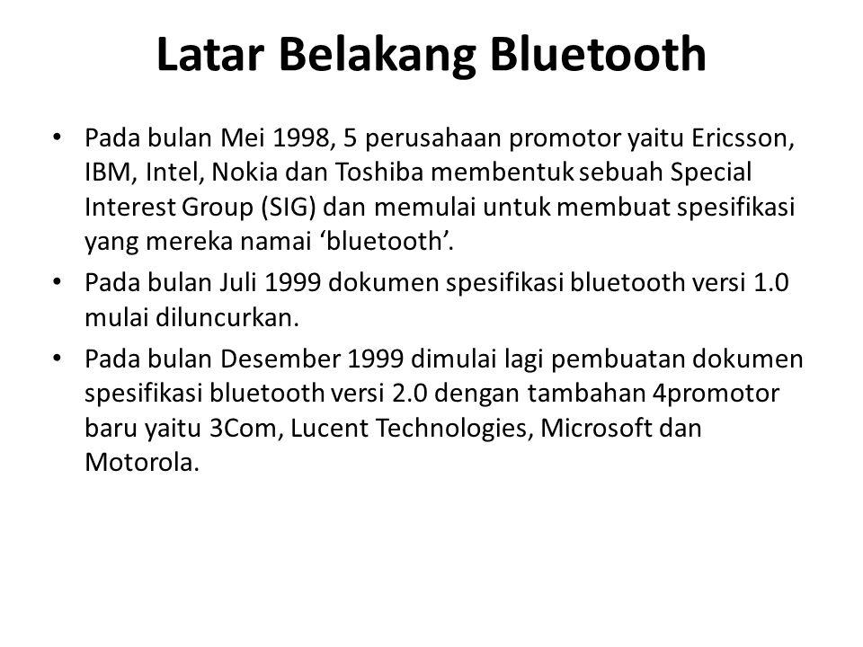 Latar Belakang Bluetooth