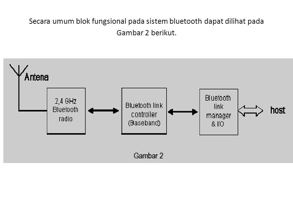 Secara umum blok fungsional pada sistem bluetooth dapat dilihat pada Gambar 2 berikut.