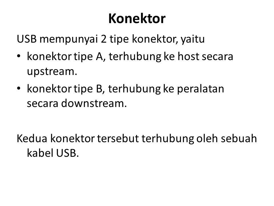 Konektor USB mempunyai 2 tipe konektor, yaitu
