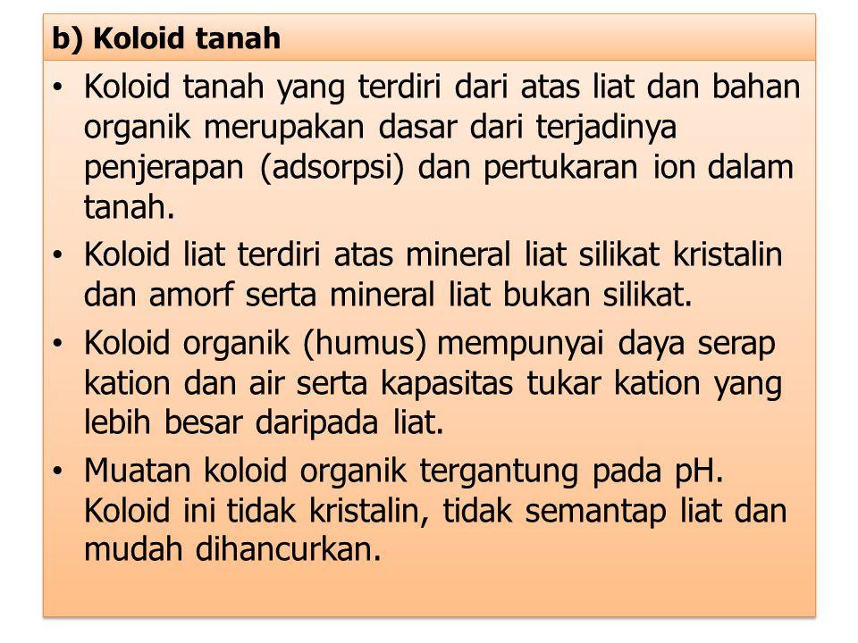 b) Koloid tanah