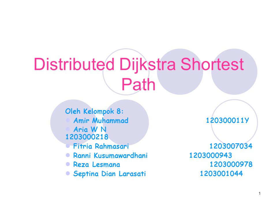 Distributed Dijkstra Shortest Path