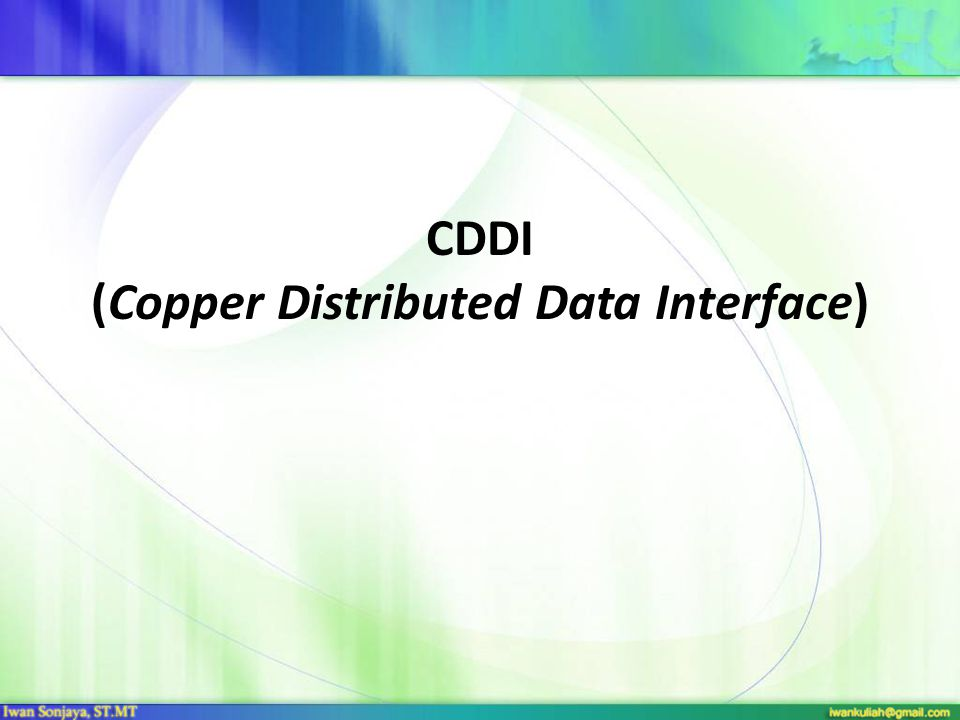 CDDI (Copper Distributed Data Interface)