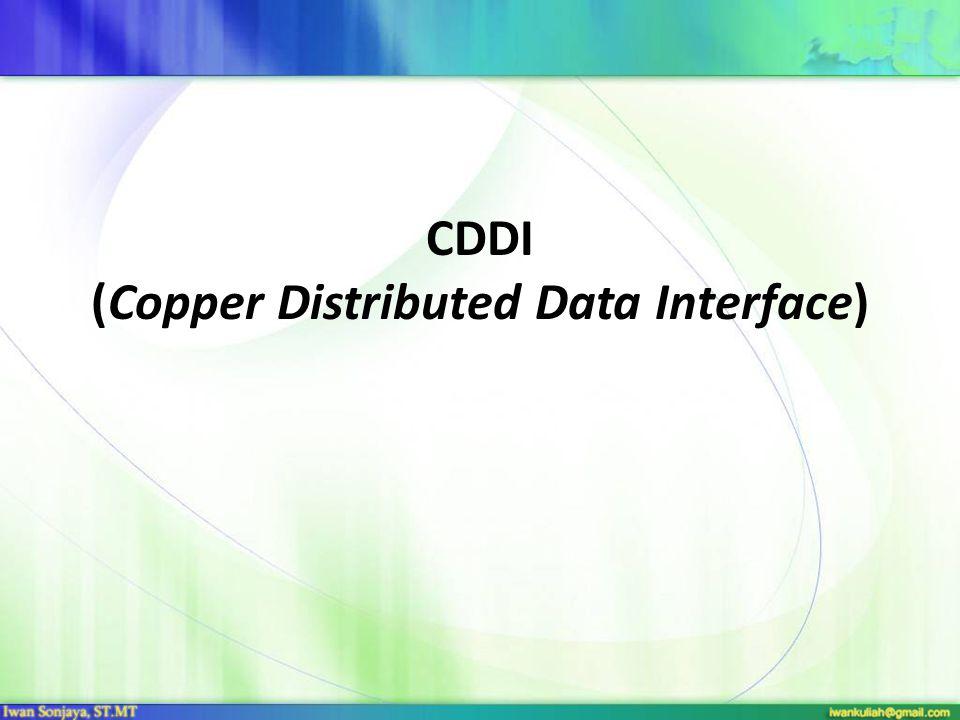 CDDI (Copper Distributed Data Interface)